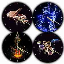 NOVELTY MUSIC THEMED Wall Clock Guitar , DJ , Drums , Piano Designs