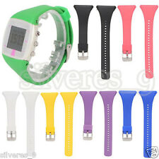 Genuine Silicone Rubber Band Reloj Correa Wrist Strap For POLAR FT4 FT7 Watch