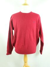 POLO by RALPH LAUREN Size XL Red 100% Lambs Wool Cable Knit Sweater Pullover