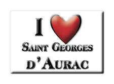 MAGNETS FRANCE - BRETAGNE AIMANT I LOVE SAINT GEORGES D'AURAC (HAUTE LOIRE)