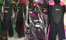 NEW Adults Two Bare Feet Shorty TBF Supaflex Wetsuits Water Sports Sizes&Colours