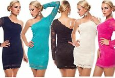 Mini Dress Party Cocktail Dress One Shoulder Dress Evening Dress Robe Lace