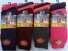 1 Pairs Ladies Brushed Design Thermal Warm Winter Black,Colourful Socks Size 4-7