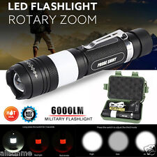 G700 X800 Tactical Zoomable XML T6 LED Military Police Flashlight Torch Lamp Set
