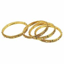 9blings party wear gold plated 4 pc bangle set l1107