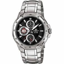 Casio EF337D-1AV Mens Black Dial Analog Watch with Stainless Steel Strap