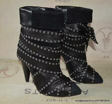 Isabel Marant Aleen Leather & Suede Boots in Black Size Fr 37 * BNIB * £850