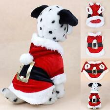 NEW DOG PET FATHER CHRISTMAS SANTA COAT JUMPER SWEATER  FOR SMALL DOG OR PUPPY