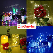 20/30/40 LED BATTERY MICRO WIRE STRING FAIRY PARTY XMAS WEDDING CHRISTMAS LIGHT