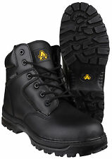 Amblers FS006C Waterproof Safety Mens Black Composite Toe Cap Boots Shoes UK4-14