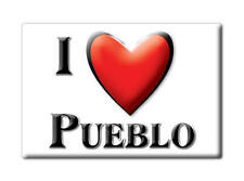 SOUVENIR USA - COLORADO FRIDGE MAGNET AMERICA I LOVE PUEBLO (PUEBLO COUNTY)