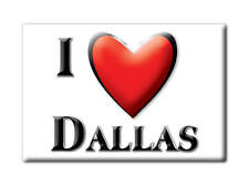 SOUVENIR USA - TEXAS GIFT FRIDGE MAGNET AMERICA I LOVE DALLAS (DALLAS COUNTY)