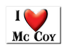 SOUVENIR USA - COLORADO FRIDGE MAGNET AMERICA I LOVE MC COY (EAGLE COUNTY)