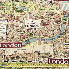 LONDON Canvas Fabric Material Medium Weight 100% Cotton 150cm Wide sold by metre