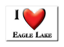 SOUVENIR USA - FLORIDA FRIDGE MAGNET AMERICA I LOVE EAGLE LAKE (POLK COUNTY)