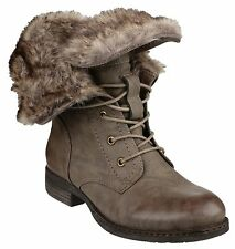 Divaz Leigh Ankle Lace Up Womens Brown Fashion Boots Shoes UK3-8