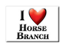 SOUVENIR USA - KENTUCKY FRIDGE MAGNET I LOVE HORSE BRANCH (OHIO COUNTY)