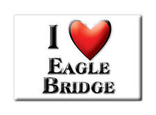 SOUVENIR USA - NEW YORK FRIDGE MAGNET I LOVE EAGLE BRIDGE (WASHINGTON COUNTY)