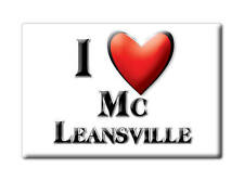 SOUVENIR USA - NORTH CAROLINA MAGNET I LOVE MC LEANSVILLE (GUILFORD COUNTY)