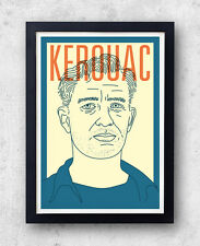 Kerouac Print! Jack Kerouac Poster, On The Road, The Dharma Bums Big Sur, beat g