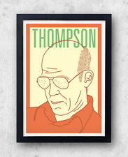 Thompson Print! Hunter S Thompson Poster, fear and loathing, las vegas, writer,