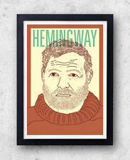 Hemingway Print! Ernest Hemingway Poster, A Farewell to Arms , For Whom the Bell