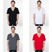 American Apparel Mens/Womens Short Sleeve Deep V-neck T-Shirt/Tee