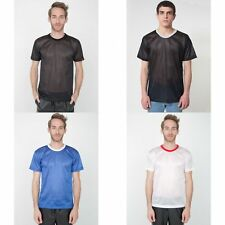 American Apparel Mens/Womens Lightweight Short Sleeve Mesh T-Shirt