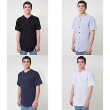 American Apparel Mens Thick-Knit Short Sleeve Baseball T-Shirt/Tee