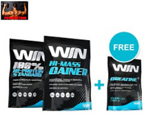 WHEY PROTEIN 910 g + GAINER MASS 2270 g + CREATINA 300 Gr - PROTEINE E GAINER