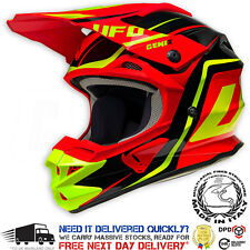 2017 UFO Interceptor 2 Motocross Helmet - Genix Black Red Yellow Fluo