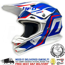 2017 UFO Interceptor 2 Motocross Helmet - Genix Red White Blue