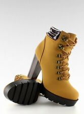 Womens New Winter Lace Up High Hells Stunning Ankle Boots Casual Combo Style