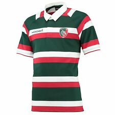 KooGa Mens Gents Leicester Tigers Rugby Home Classic Shirt Jersey Top 2016-17