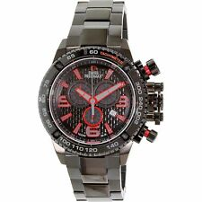 Swiss Precimax SP13240 Mens Black Dial Analog Watch with Stainless Steel Strap