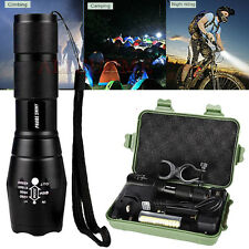 5000LM XML T6 Zoomable LED Tactical Flashlight 18650 Battery Charger Torch Lamp