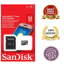 100% Quality Sandisk 8GB 16GB 32GB SDHC Class 4 Micro Memory SD Card + Adapter