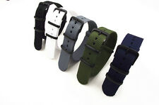 NATO G10 Nylon Strap Strong Watch Band 3 ring buckle 5 Colours 18-22 Diameter