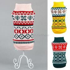 Pet Puppy Dog Knit Sweater Clothes Pet Cat Snowflower Warm Coat Jumper Apparel