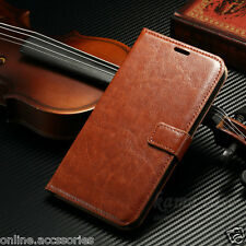 VINTAGE THIN LEATHER FLIP WALLET COVER BACK CASE FOR MICROSOFT NOKIA LUMIA 640XL