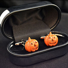 Halloween Pumpkin Cufflinks Orange Scary Costume Jack O Lantern - Party Gift
