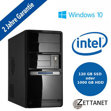 PC KOMPLETT Computer Intel Quad Core 4GB RAM  USB 3.0 HDMI