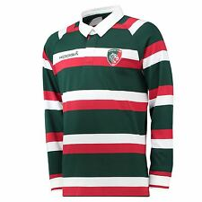 KooGa Mens Gents Leicester Tigers Rugby Home Classic Jersey Long Sleeve 2016-17