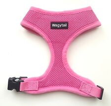 Dog Harness Pink Soft Breathable Air Mesh Padded Wagytail - optional lead