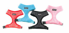 Dog harness soft air mesh padded polka dot blue pink red black wagytail