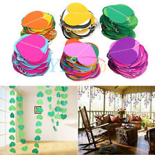 4M Heart-Shaped Hanging Paper Garland String Wedding Christmas Party Decoration