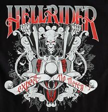 NEW Hell Rider Devil Expect No Mercy Chopper Classic Biker Motorcycle T Shirt