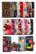 LG K8 LTE - Colourful Printed Pattern Card Slot Wallet Case Cover