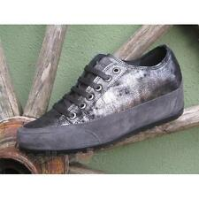 Scarpe Igi&Co Sneaker High Heels 67605 00 Donna Suede Anthracite Made in Italy