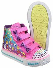 Skechers Twinkle Toes Shuffles Chat Time Kids Infants Girls Trainers Shoes UK4-9